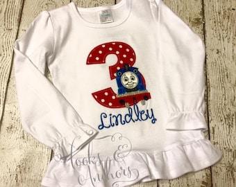Thomas Train inspired Birthday Shirt for Boys or Girls