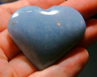 Large Angelite Heart