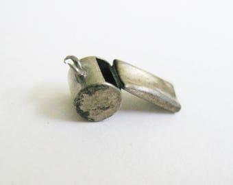 Antique Sterling Silver Whistle Bracelet Charm Sterling Silver Vintage Momento Memorabilia Keepsake