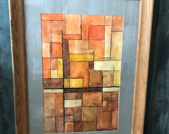Mid Century Modernist Abstract Watercolor