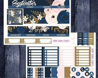 Weekend Sale September Monthly Stickers for HAPPY PLANNER