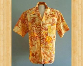 Groovy mens vintage 1970s hawaiian shirt.