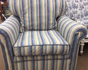 Vintage over sized chair  newly upholstered
