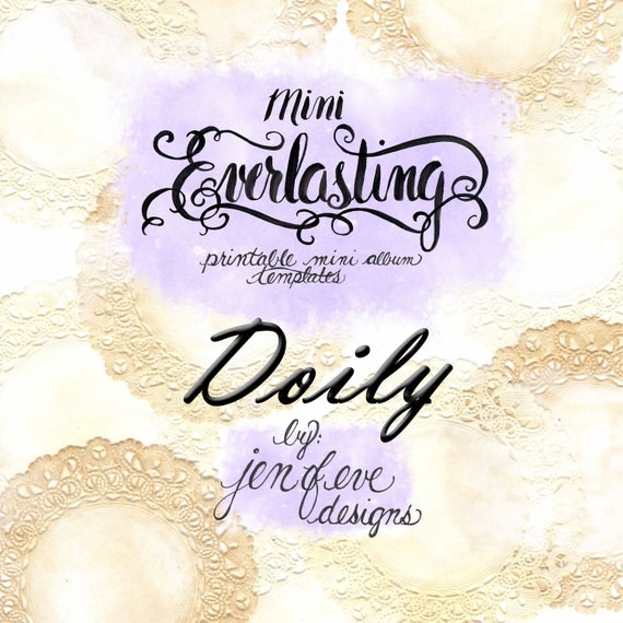 Mini Everlasting Printable Mini album Template in Doily and PLAIN