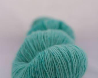 Hand-dyed yarn - sock yarn - superwash - merino - speckles - dyed-to-order - AQUAMARINE