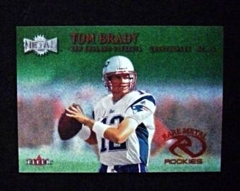 2000 Fleer Metal Emerald #267E Tom Brady [New England Patriots] (RC) RP