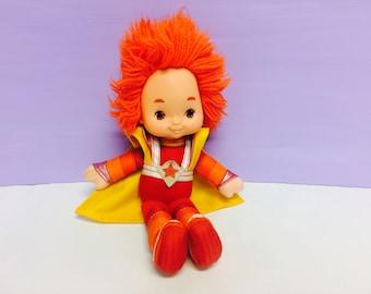 Vintage Rainbow Brite, Red Butler Doll, Rainbow Brite's Friend, Red Hair, Mattel 1983, Hallmark 1983, 1980s Toys, Rainbow Brite Boy Doll