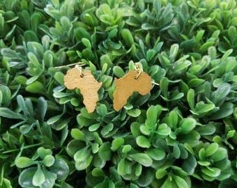 Mini Africa (3 colors)- Handmade Wooden Earrings