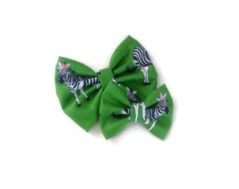 Zebra Bow | Fabric Bow | Handmade Hair Bow | Hair Clip | Headband