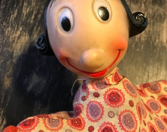 1950s olive oil hand puppet