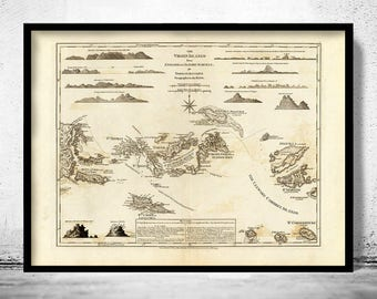 Old Map of Virgin Islands 1775