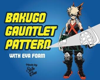 Bakugou Grenade Gauntlet Instructional cosplay pattern how to blueprint EVA foam