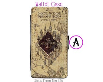 iPhone 7 Case - iPhone 7 Wallet Case - iphone 7 - iPhone 7 Wallet - Harry Potter iphone 7 case A - Marauder Map iphone 7 case