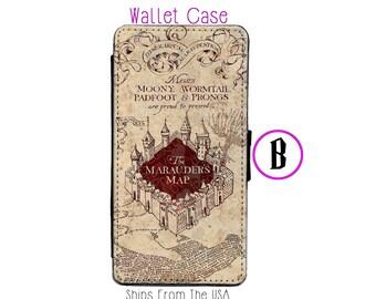 iPhone 6 Case - iPhone 6 Wallet Case - iphone 6 - iPhone 6 Wallet - Harry Potter iphone 6 case - Marauder Map iphone 6 case