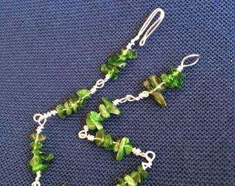 Green Chrome Diopside Chip Bracelet