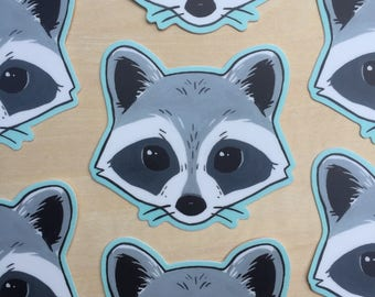 Cute Raccoon Vinyl Stickers