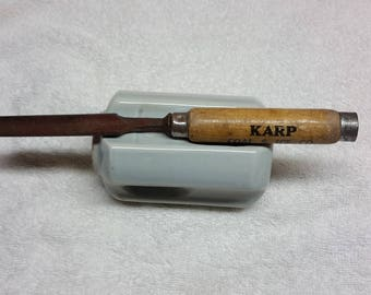 Vintage Ice Chisel Pick with Vintage Advertising Karp Coal and Ice