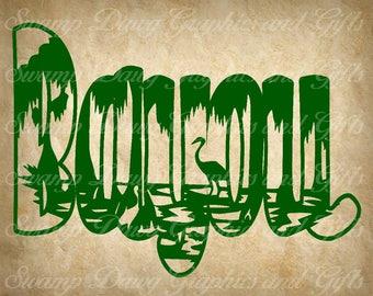 bayou svg, silhouette, cricut, digital file, svg, bayou cut file, bayou life, cut file, swamp, swamp svg, bayou scene, vinyl,htv