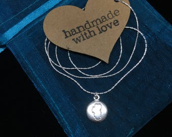 Hand stamped Tahoe necklace