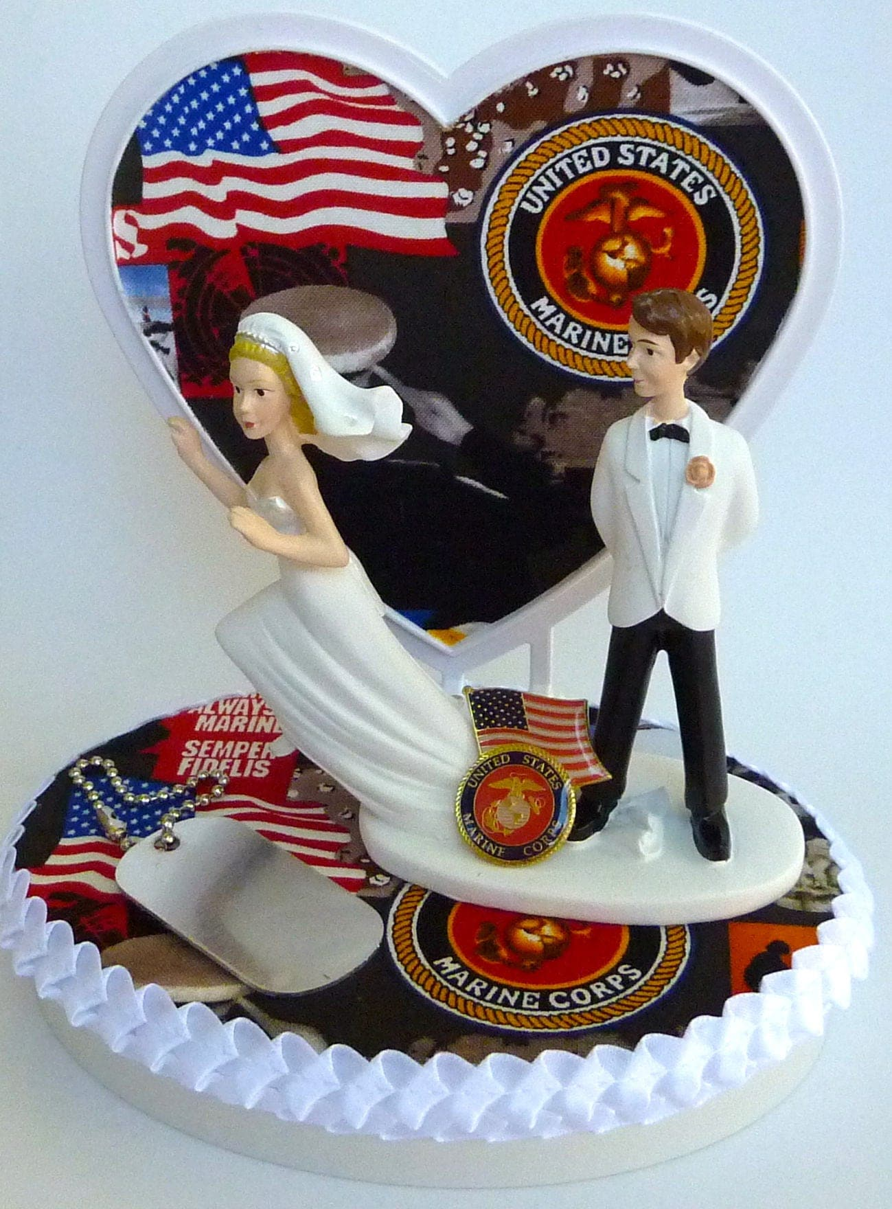 marine cake toppers for wedding cakes wedding cake topper usmc us marine corps themed runaway 5711