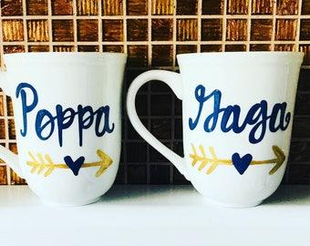 Grandma and Grandpa coffee mug- nana mimi mug- Mother's Day gift  arrows papa bear grandma grandpa mimi nana grandparent mom dad mug papa be