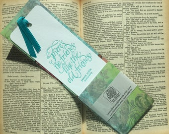Literary Calligraphic Letterpressed Bookmark with Friends Quote
