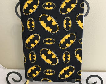 Batman composition/Journal fabric book cover