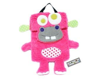 Backpack hippopotamus pink, creation original