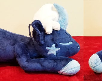 Dusk the night sky sleeping unicorn plush
