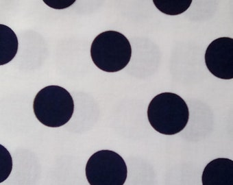 Navy Polka Dots, Jack &Lulu for Dear Stella, White With Navy Dots