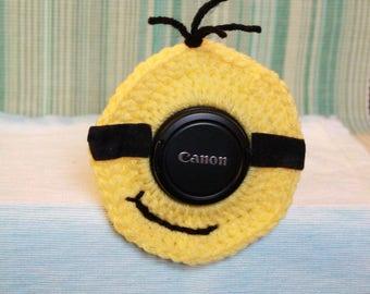 CUSTOM Order for Jen - Priority Shipping Upgrade - Crochet Minion Camera Lens Buddy