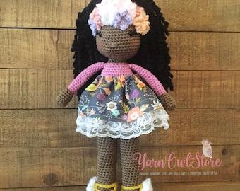 Flower Crown Handmade Doll