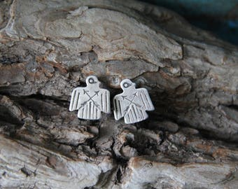 Vintage | Navajo | Native American | Sterling | Silver | Screw back | | Thunderbird | Fred Harvey Era | Earrings | 1.9 grams