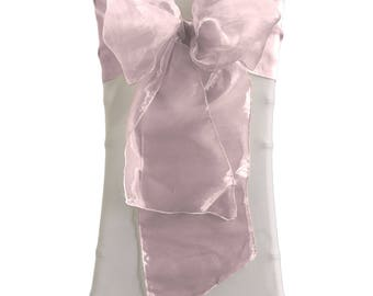 Organza Sashes Chair Bows (Pack of 25). Made in the USA