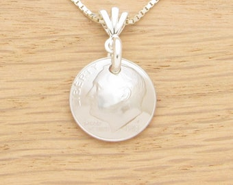 For 35th: 1983 US Dime Necklace Coin Jewelry 35th Birthday or 35th Anniversary Gift Coin Jewelry