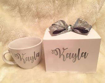 Will You Be My Bridesmaid/I Can't Say I Do Without You/ Will You Be My Maid of Honor Proposal Boxes--Completely customizable (Silver)