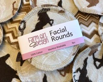 Horse Pony Facial rounds | Makeup Remover | Facial Towel | Flannel Scrubby | Soft Scrubbies | Cotton Rounds | Makeup Wipes | Reusable Face P