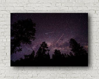 Canvas Art, Night Sky Canvas, Home Decor Art, Stretched Canvas, Gallery Wrap, Canvas Wrap, Stars on Canvas, Wall Canvas, Colorado Art