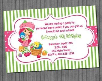 FLASH SALE Strawberry Shortcake Invitation