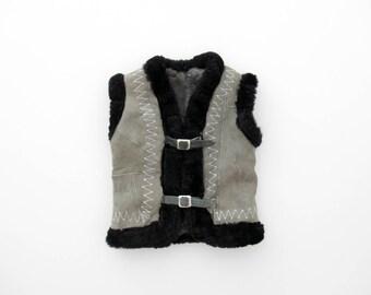 Sheepskin vest | Etsy