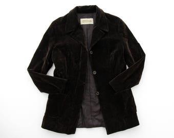 Vintage Blazer // Fabrizio Lenzi Brown Velvet Blazer