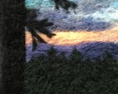 Sunset in the High Sierra - Original Felted Wool Art from the Pacific Crest Trail in California's Sierra Nevada Mountains