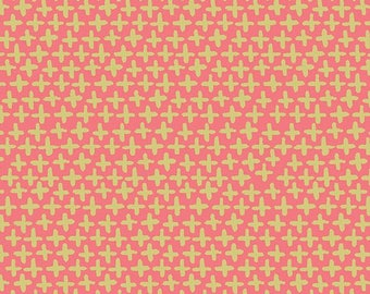 Pink Shimmer Organic Poplin- Haiku 2 by Monaluna Fabrics - organic fabric by the yard, modern blender, metallic, organic, fabric by the yard