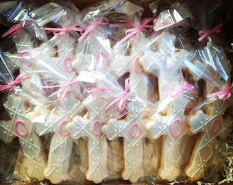 Cross Cookies for Communions, Baptisms, Confirmations, Weddings