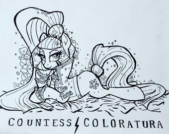 Original Countess Coloratura Art Piece