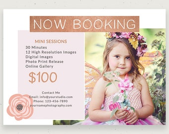 Spring Mini Session Template for Photographers, Photography Template, Newsletter, Marketing Template, Digital File, PSD c142