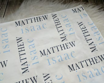 Personalized swaddle blanket for newborn or hospital pictures: baby personalized name newborn hospital gift baby