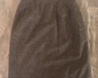 Gray 100% wool skirt