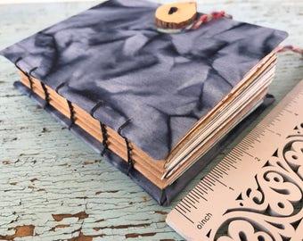 Handbound Journal, nature, junk journal, prayer journal, recycled upcycled paper, travel journal