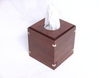 Black Walnut Tissue Box Holder